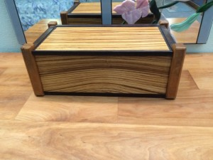 Zebra wood box